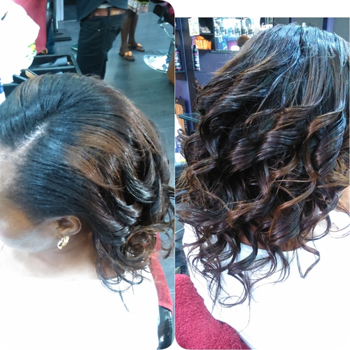 Lovely silky press to give you that curly look. Cost includes washing and oiling of hair. #curlyhair