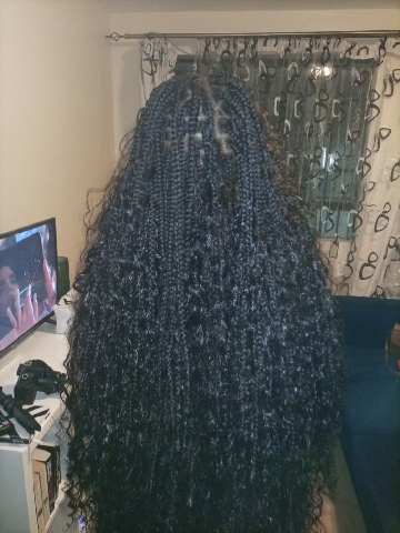 Goddess braids for a happy client.